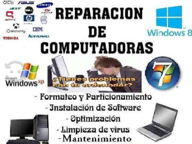 Reparación actualización mantenimiento en pc y lap