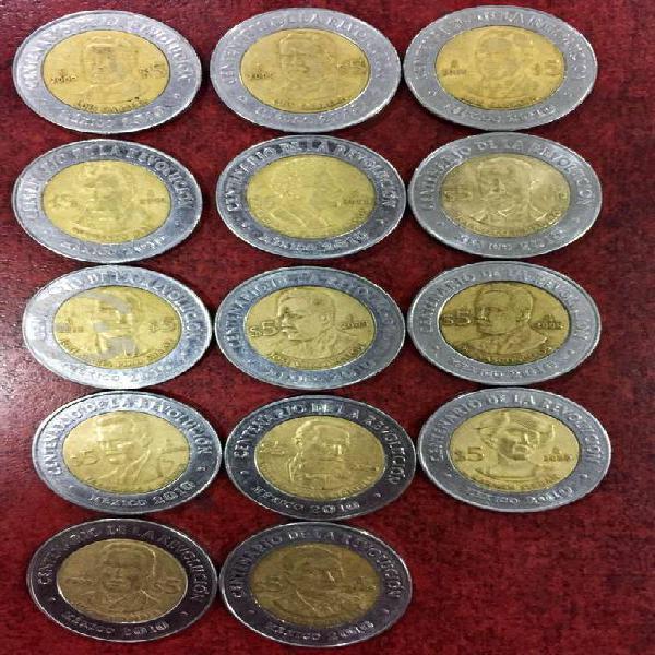 Vendo monedas del bicentenario, centenario y bdep