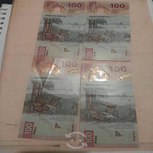 Billetes de 100 colección son 4 aa ab otras ser