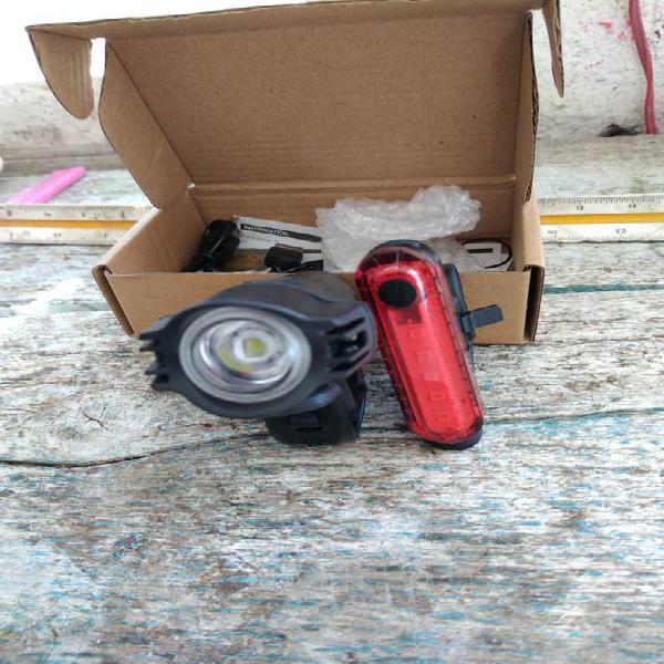 Luces para bicicleta kit recargable