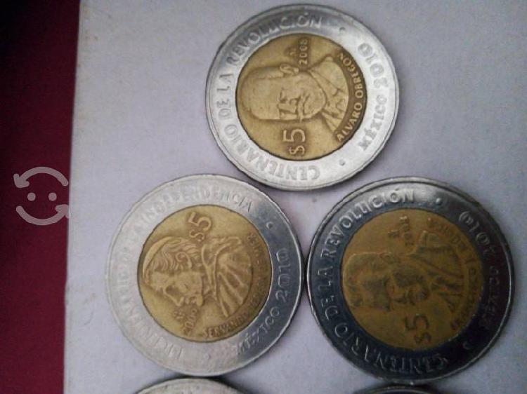 Monedas de colección centenario de la revolución