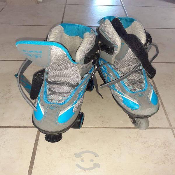 Set de patines en línea y 4 ruedas