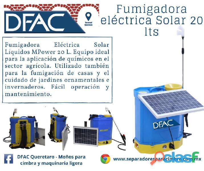 Fumigadora solar eléctrica para sanitizar