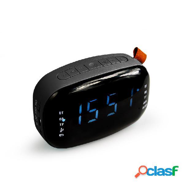 Led fm radio alarma digital reloj con temporizador de apagado función de repetición diseño moderno digital compacto