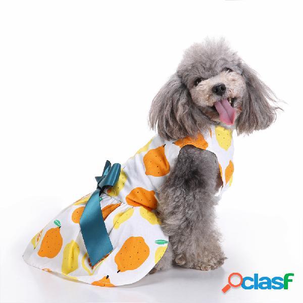 Fashion pet perro vestido ropa camisas de verano chaleco ropa cómoda
