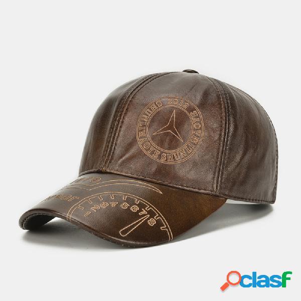 Mercedes logo layer leather sombrero béisbol de una capa de cuero sombrero