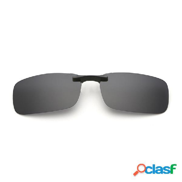 Gafas de sol polarizadas de la luz del conductor de las mujeres del mens clip de gafas de sol de las gafas de la cortina del clip