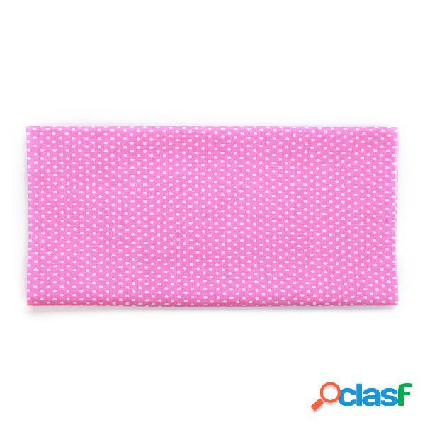 Conjunto de acolchado cuadrado de tela de retazos de algodón precortado surtido de puntos coloridos 7