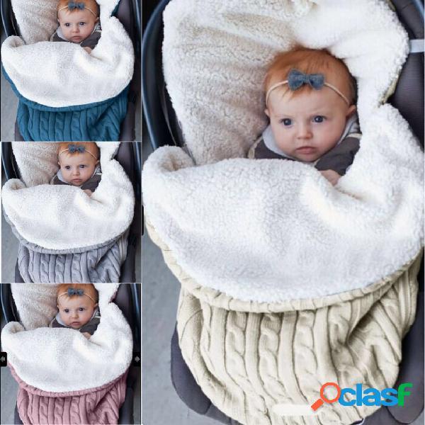 Bebé con cierre lateral grueso y cálido que duerme bolsa para el hogar bebé coche 0-12 meses