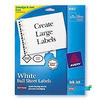 Q productos etiqueta blanca, 28mm x 21.5mm, 25 etiquetas