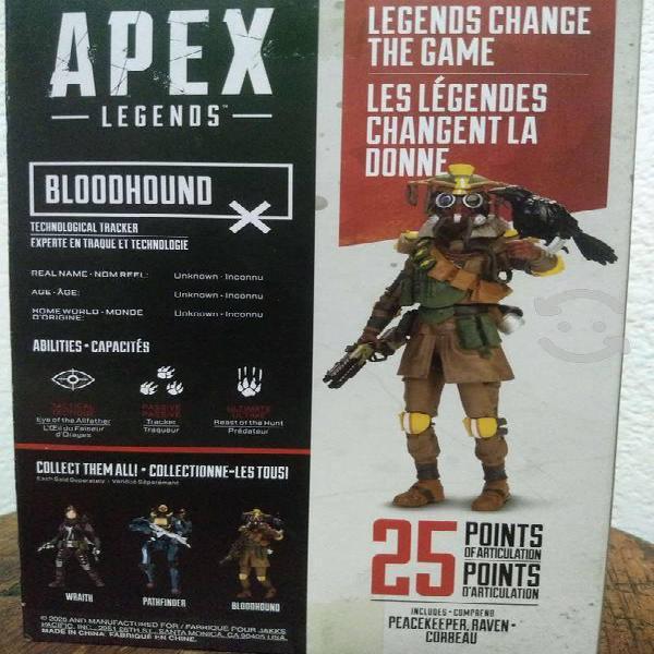 Apex legends, bloodhoond. figura de acción