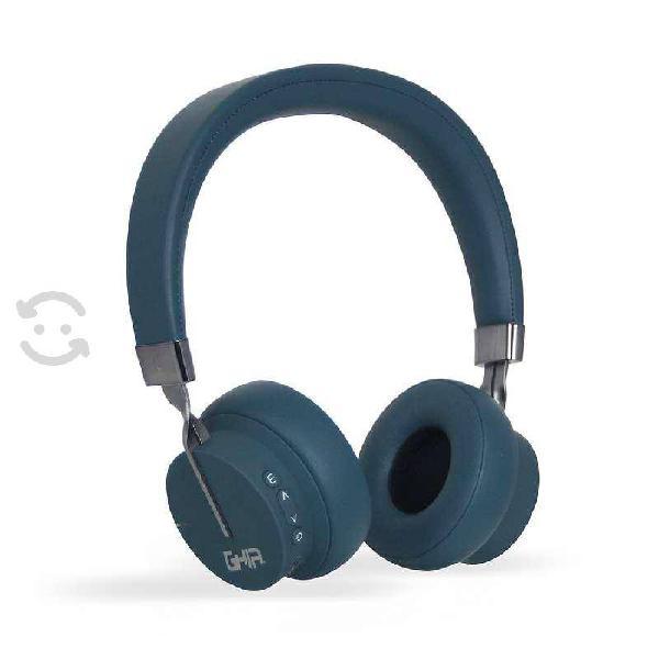Audifonos diadema bluetooth azul 10m aux tf card r
