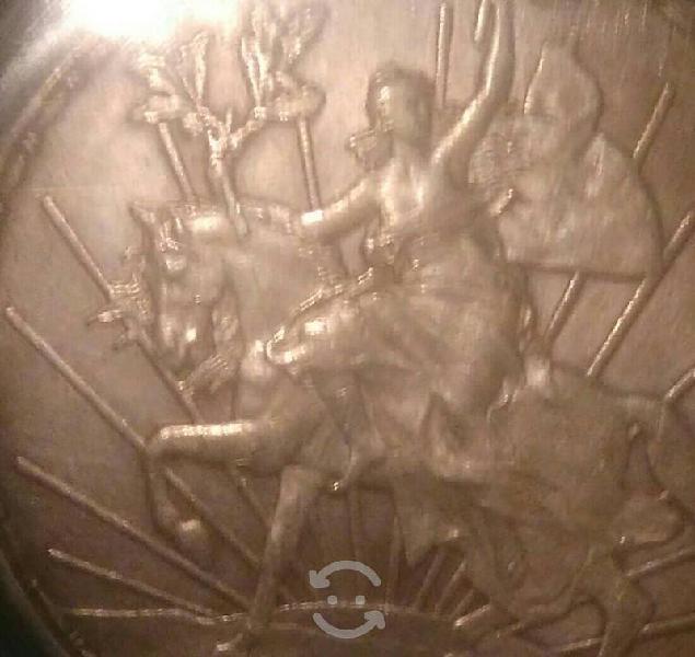 Moneda de plata antigua peso caballito
