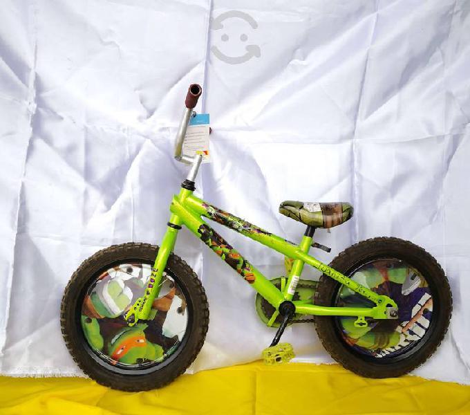 Bicicleta rin 16 infantil nickelodeon tortugas nin