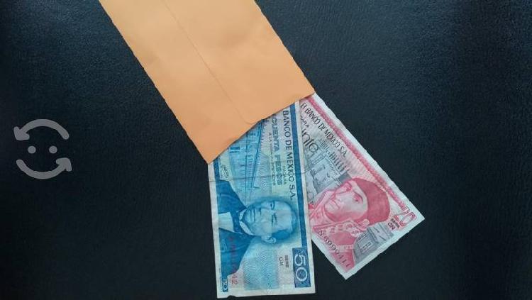 Billetes antiguos en buenas condiciones