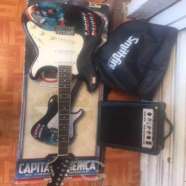 Guitarra eléctrica c/amplificador marvel