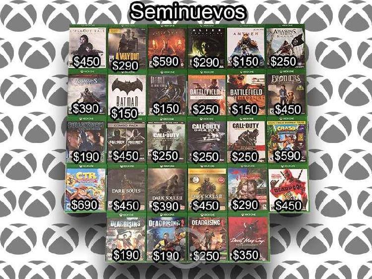 Juegos para xbox one seminuevos