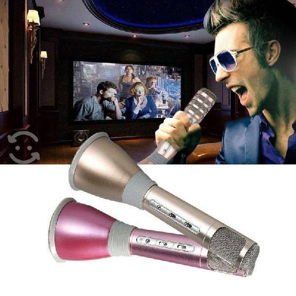 Microfono inalambrico karaoke bocina bluetooth mp3