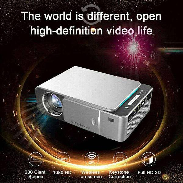 Proyector 4k full hd 1080p 200-300 pulgadas