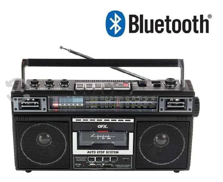 Radio retro am/fm usb, sd, casette, convertidor mp