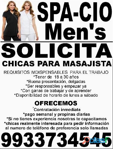 solicito personal femanino de 18 a 30 años