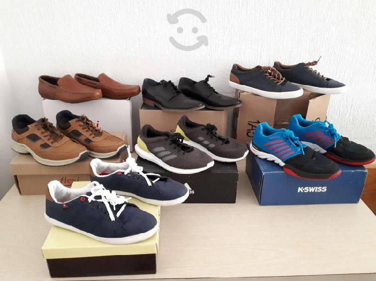 7 pares de zapatos hombre