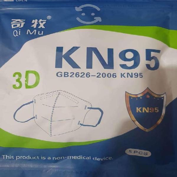 Cubrebocas kn95 5 pza x paquete/precio x5 paquetes