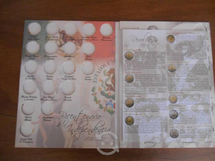 Album coleccionador monedas bicentenario vacio