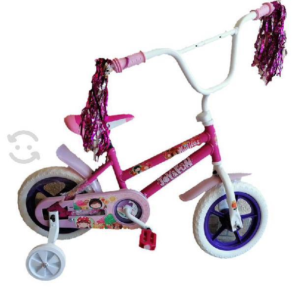 Bicicleta rodada 12 para niña --nueva