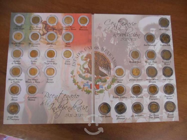 Coleccion albun 38 monedas bicentenario