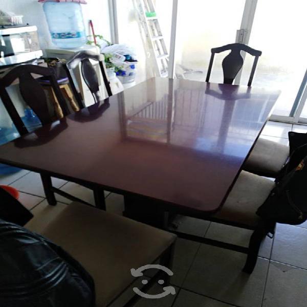 Comedor de 6 sillas color chocolate