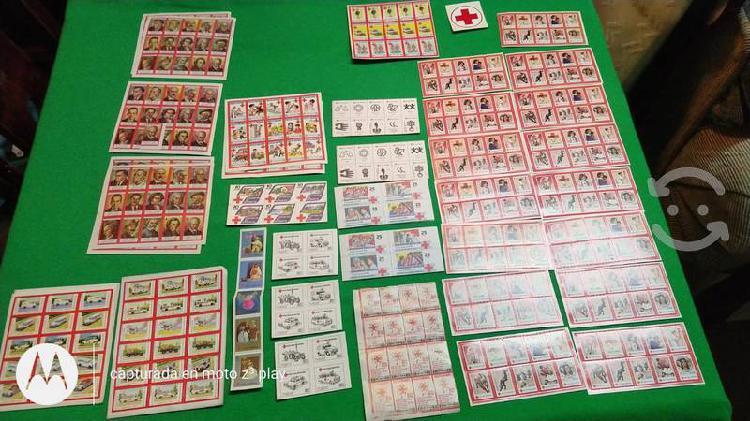 Estampillas postales edición cruz roja mexicana