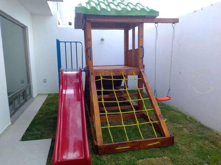 Juego de madera basico para pequeños espacios