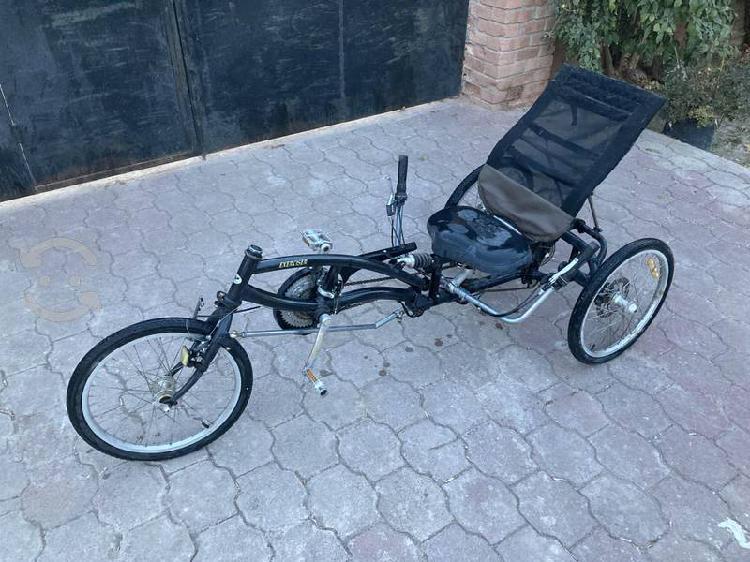 Triciclo reclinado recumbent bicicleta adulto