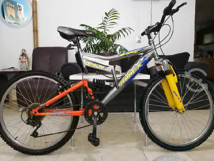 Bici bimex montaña 24 doble suspensión