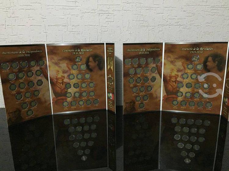 Lbum completo colección monedas $5 pesos bic/cent