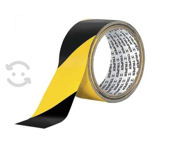 Cinta precaucion delimitadora amarilla con negro