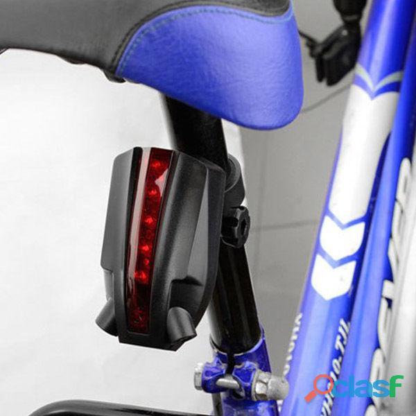 Luz trasera de bici con laser dibuja logo de bicicleta