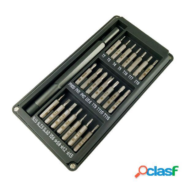 Juego de destornilladores de precisión multiusos 22 en 1 juego de destornilladores de aleación de aluminio