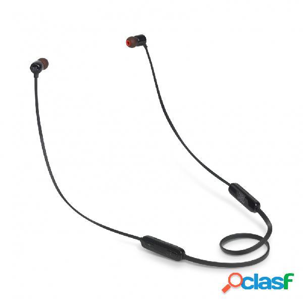 Jbl audífonos intrauriculares con micrófono tune 110bt, inalámbrico, bluetooth, negro