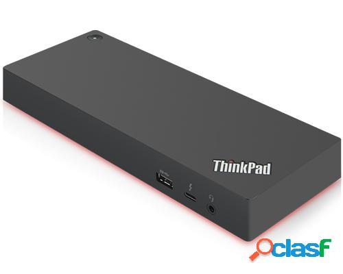 Lenovo docking station thunderbolt 3 thunderbolt 3, 5x usb 3.0, 2x hdmi, 2x displayport, 1x thunderbolt 3, negro
