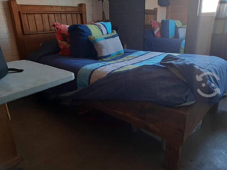 Base de cama , cabecera y buro