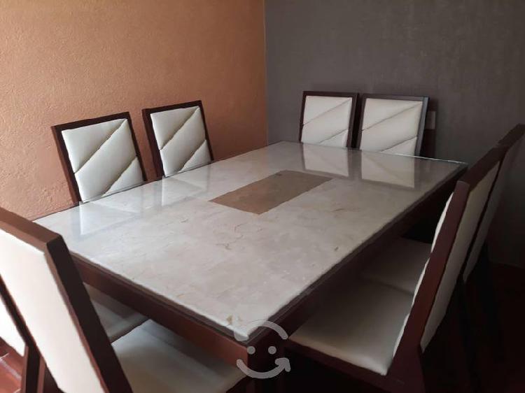 Comedor marmol y madera de muebles placencia