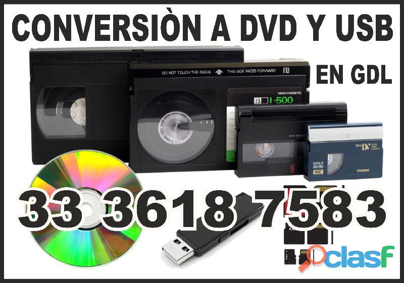 Video casetes a usb en gdl $70