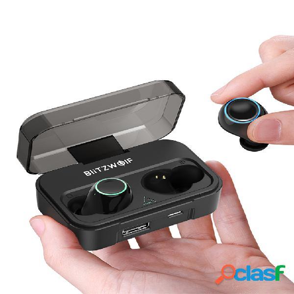 bw-fye3 true wireless bluetooth 5.0 auricular llamadas bilaterales de alta fidelidad con banco de energía de 2600mah