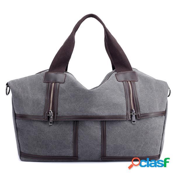 Gran capacidad vendimia hombro casual de lona bolsa crossbody bolsa para mujer