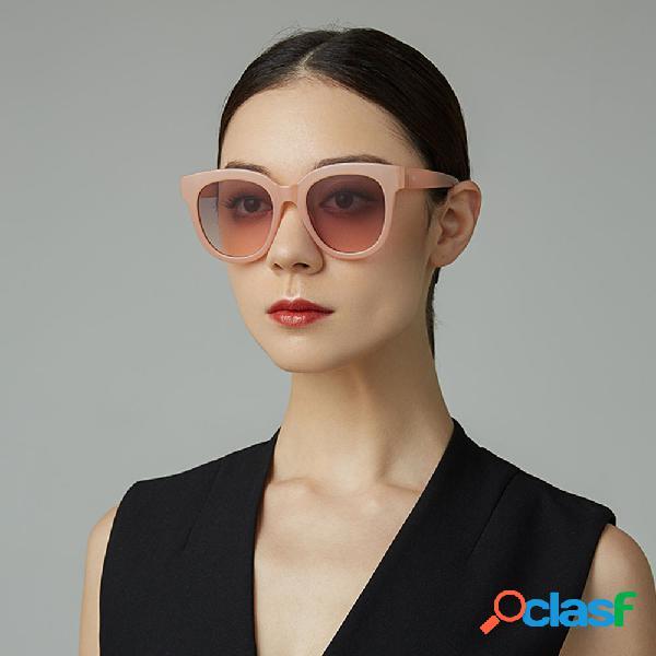 Mujer vendimia gafas de sol de protección clásicas de verano de forma redonda con montura completa uv