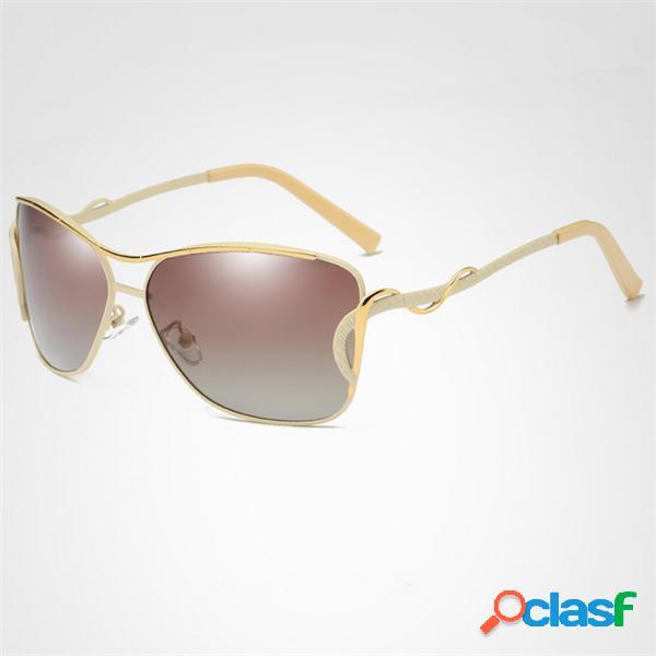 Mujer vendimia hd gafas de sol polarizadas al aire libre gafas antideslizantes antirravioleta con protección solar