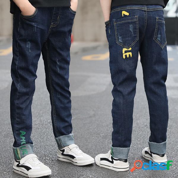 Ropa para niños, pantalones para niños nuevos, pantalones para niños grandes, jeans de temporada