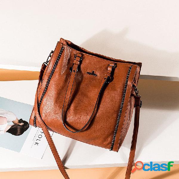 Mujer vendimia gran capacidad 13,3 inch portátil bolsa bandolera bolsa bandolera bolsa bolso